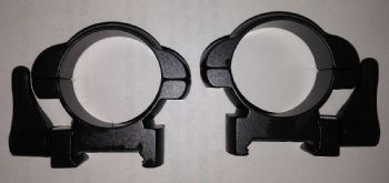Nikko Steel Lok Quick Detach, Weaver/Picatinny base Mount Rings - Low height 30mm tube scopes